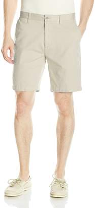 Nautica Men's Cotton Twill Flat Front Chino Deck Short