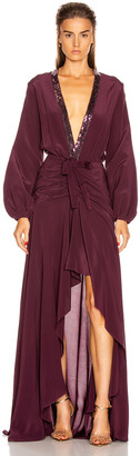 Silvia Tcherassi Danitza Dress in Plum | FWRD