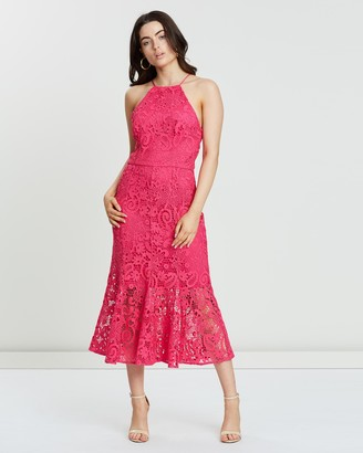 Cooper St Glimmer High Neck Lace Dress