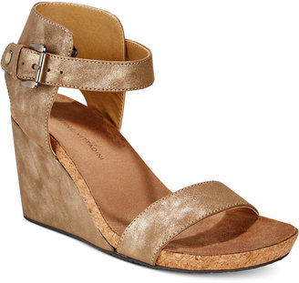 Adrienne Vittadini Ted Platform Wedge Sandals $89 thestylecure.com
