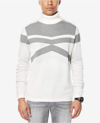 Sean John Men's Textured Tonal Pattern Turtleneck, Created for Macy's