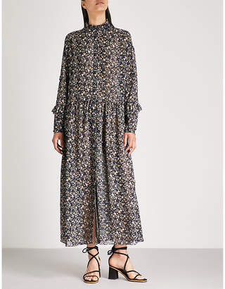 MiH Jeans Edith floral-print silk-chiffon midi dress