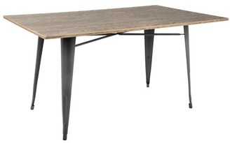 "Lumisource Oregon 59"" Industrial-Farmhouse Dining Table in Grey and Brown"