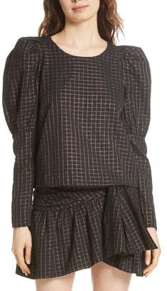 Mes Demoiselles Colveig Metallic Check Top