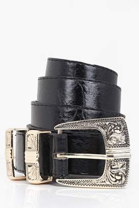 boohoo Metal Tipped Western Belt