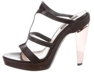 Derek Lam Leather Platform Slide Sandals