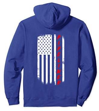 Pipeliner American Flag Hoodie For Welding Welder