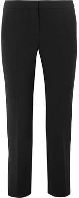 Max Mara Alpe Cropped Stretch-wool Slim-leg Pants - Black