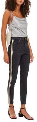 Topshop MOTO Stripe Skinny Jeans