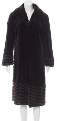 Couture Bisang Sheared Mink Fur Coat
