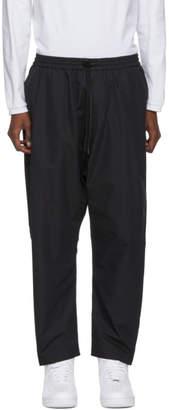 Juun.J Black Cotton Drawstring Trousers