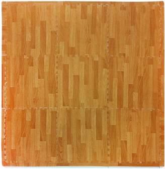 Tadpoles Playmat Set 9-Piece Wood Grain