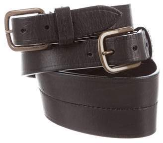 Lanvin Leather Double-Buckle Waist Belt