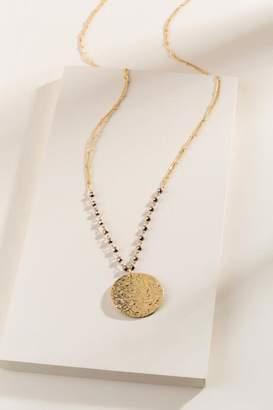 francesca's Hildy Coin Pendant Necklace - Bronze
