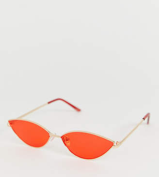 0617d32d8dd55 Aldo thin metal fluro frame cat eye sunglasses