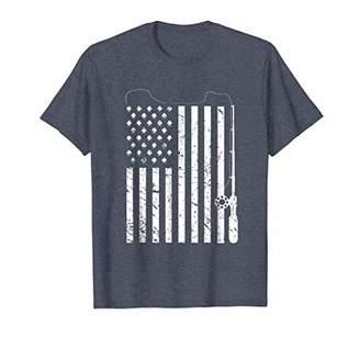 Fishing American Flag T-shirt - Patriotic Fishing Tshirt