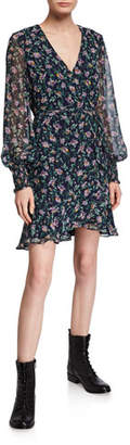 Bardot Miley Floral-Print Short Flounce Dress