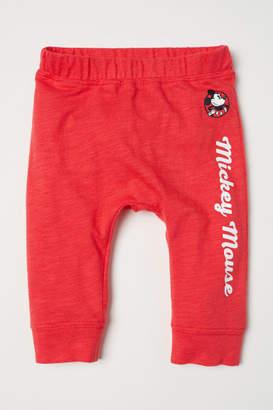 H&M Leggings with Printed Design - Red