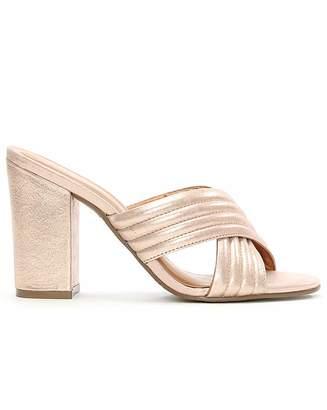 Daniel Footwear Daniel Pink Metallic Quilted Heeled Mule