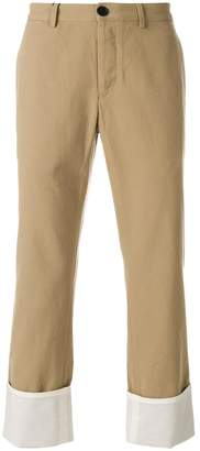 Loewe turn-up chino trousers