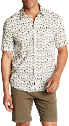 Benson Island Print Short Sleeve Modern Fit Shirt