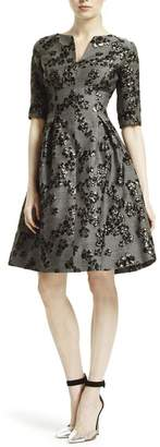 Lela Rose Elbow Sleeve Dress