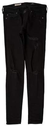 Adriano Goldschmied Distressed Low-Rise Pants