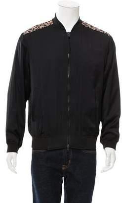 AllSaints Silk Bomber Jacket