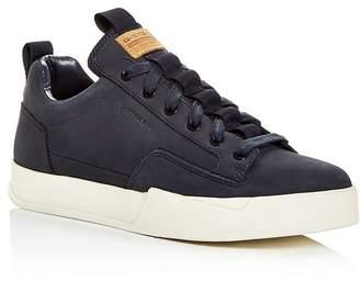 G Star Men's Rackam Vodan Nubuck Leather Low-Top Sneakers