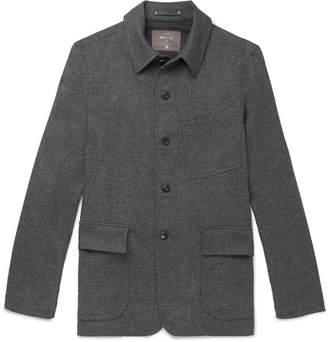 Woolmark Private White V.C. + Slim-Fit Herringbone Merino Wool Shirt Jacket