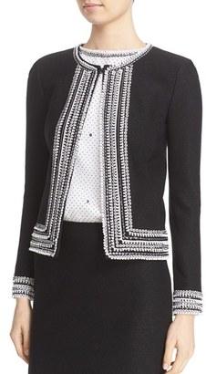 Women's St. John Collection Embellished Knit Jacket $2,295 thestylecure.com