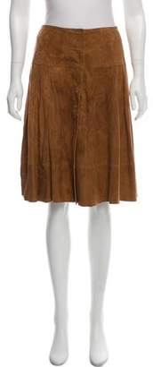 Joie Knee-Length Leather Skirt w/ Tags