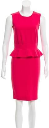 Emilio Pucci Virgin Wool Peplum Dress