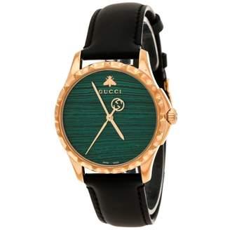 c656e7e45d2 Gucci Le Marche des Merveilles Black Gold plated Watches