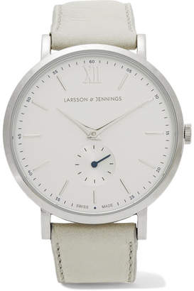 Larsson & Jennings Lugano Kulor Stainless Steel And Leather Watch - Gray