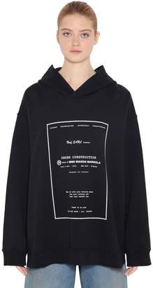 MM6 MAISON MARGIELA Printed Cotton Jersey Sweatshirt Hoodie