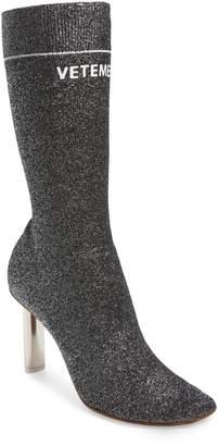Vetements Lurex Sock Boot