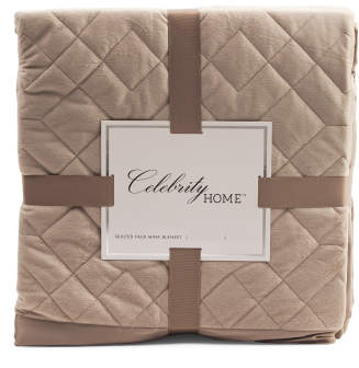 Quilted Faux Mink Blanket