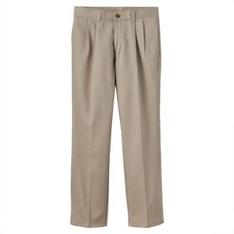 Chaps Boys 8-20 & Husky School Uniform Pleated Twill Pants