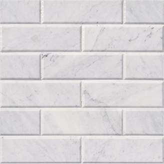 MSI Arabescato Hon And Big Bev 4 x 12 Marble Subway Tile in White