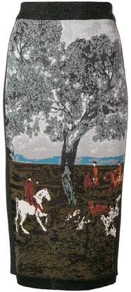 Antonio Marras intarsia pencil skirt