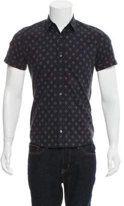 Dries Van Noten Short Sleeve Button-Up Shirt