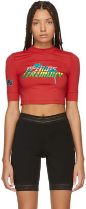 Opening Ceremony Red Sporty Crop T-Shirt