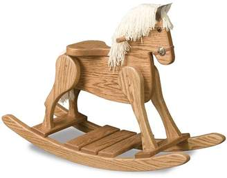 FireSkape Amish Small Deluxe Crafted Rocking Horse with Mane
