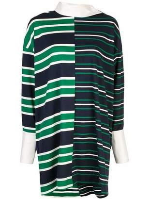Monse Striped Twist Rugby Dress NGR