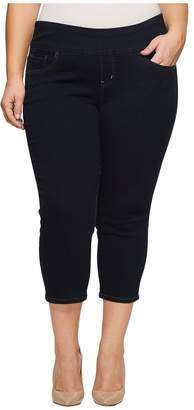 Jag Jeans Plus Size Peri Straight Pull-On Denim Crop Women's Jeans