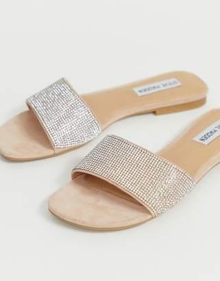500258c3b128 Steve Madden Bevy diamante slip on summer sandals