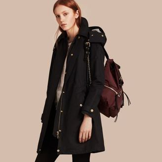 Burberry Hooded Cotton Blend Parka with Detachable Warmer $795 thestylecure.com