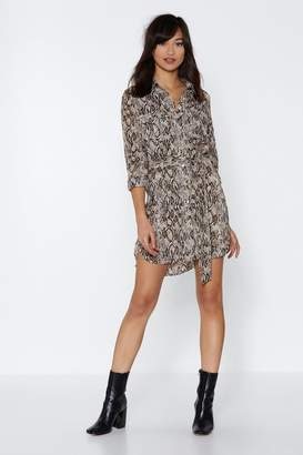 Nasty Gal Where Does the Party Snake Place Shirt Dress