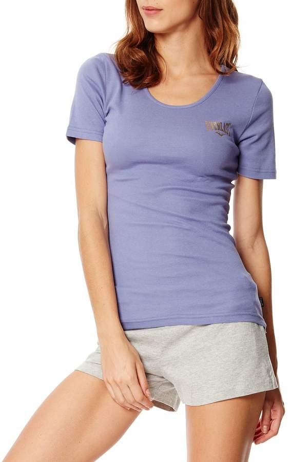 Kurzärmeliges T-Shirt - rötlich-violett